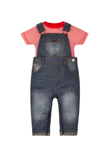 Mothercare | Boys T-Shirt And Denim Dungarees Set
