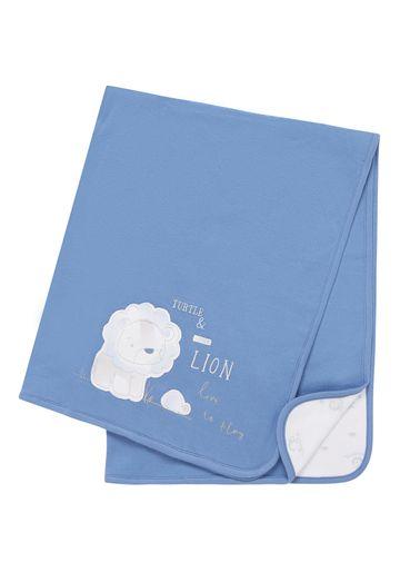 Mothercare | Boys Shawl Lion Patchwork - Blue
