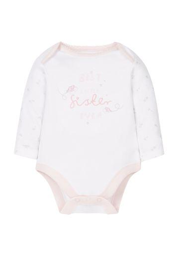 Mothercare | Girls Little Sister Bodysuit - White
