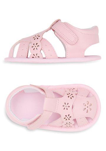 Mothercare | Girls Flower Sandals - Pink