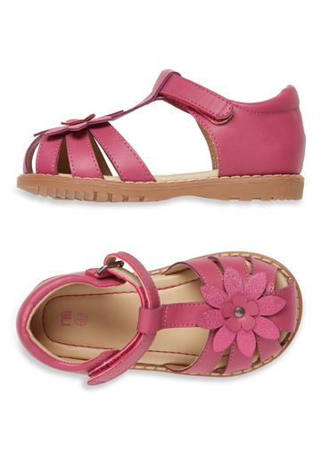 Mothercare | Girls Closed Toe Flower Sandals - Pink