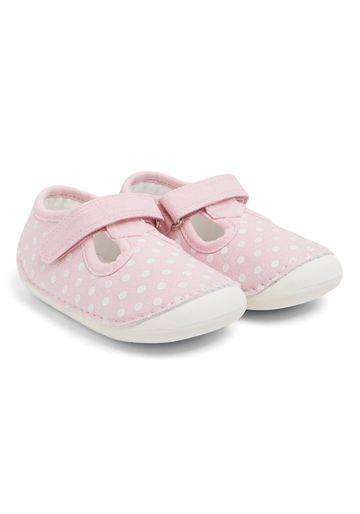 Mothercare | Girls  Spotty Crawler Shoes - Pink