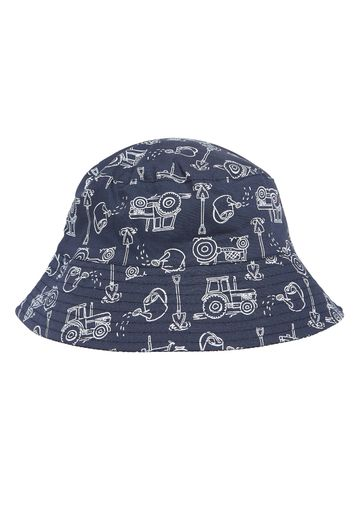 Mothercare   Boys Tractor Fisherman Hat - White