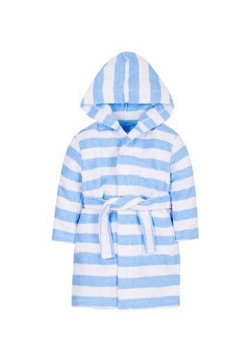 Mothercare | Boys Full Sleeves Bath Robe Striped - Blue