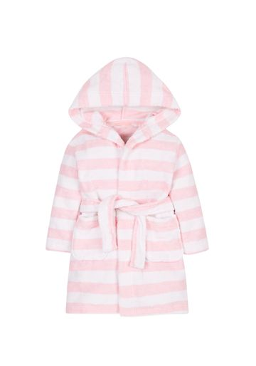 Mothercare | Girls Full Sleeves Bath Robe Striped - Pink