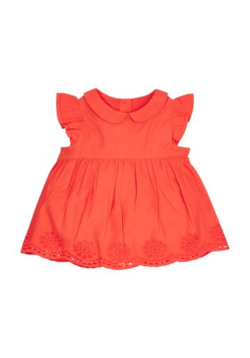 Mothercare | Girls Red Peter Pan Collar Blouse - Red