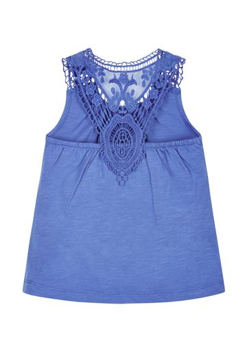 Mothercare | Girls Lace Top - Blue