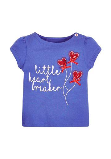 Mothercare | Girls Little Heartbreaker T-Shirt - Blue