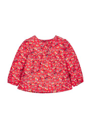 Mothercare | Girls Red Farm Print Blouse