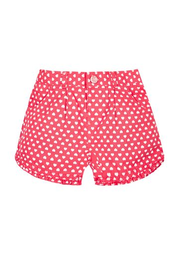 Mothercare   Girls Heart Shorts - Red