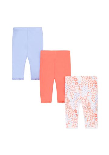 Mothercare   Girls Sea Cropped Leggings - Pack Of 3
