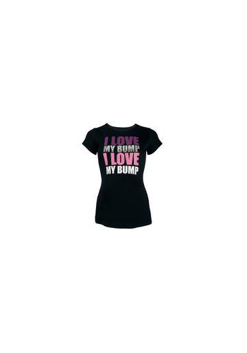Mothercare | Women Maternity Half Sleeves T-Shirt Text Print - Black