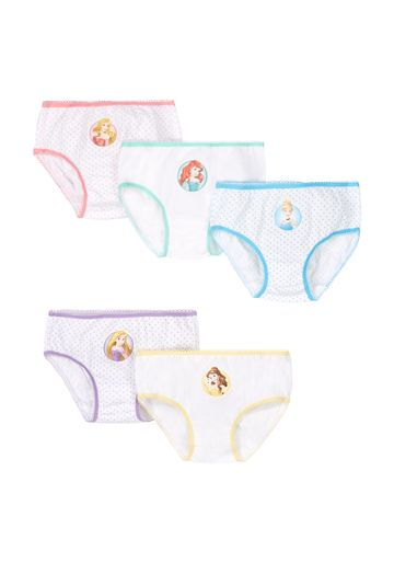 Mothercare | Girls Briefs Disney Princess Print - Pack Of 5 - White