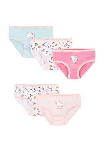 Mothercare | Girls Briefs Kitty Print - Pack Of 5 - Multicolor
