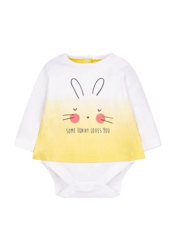 Mothercare | Bunny Mock T-Shirt Bodysuit