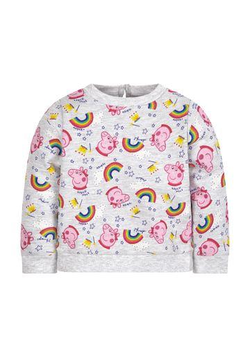 Mothercare | Girls Peppa Pig Sweat Top - Grey