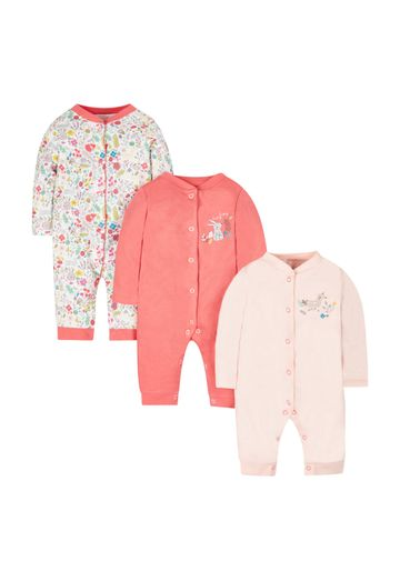 Mothercare | Woodland Footless Sleepsuits - 3 Pack