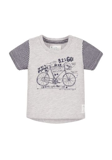 Mothercare   Boys Half Sleeves T-Shirt Bicycle Print - Grey