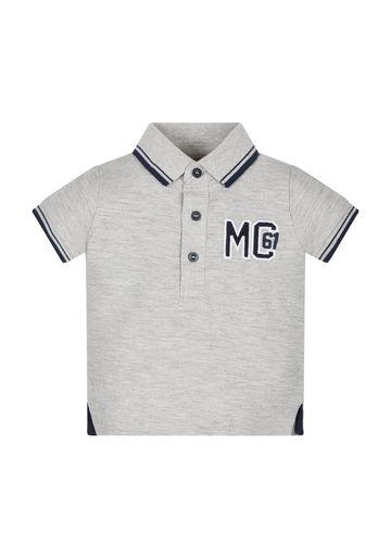 Mothercare | Boys Half Sleeves Polo T-Shirt Embroidered - Grey