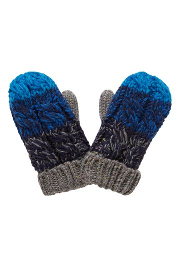 Mothercare | Boys Mittens Cable Knit - Navy