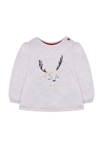Mothercare   Girls Adorable Deer T-Shirt - White