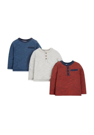 Mothercare | Boys Full Sleeves T-Shirt Textured - Pack Of 3 - Multicolor