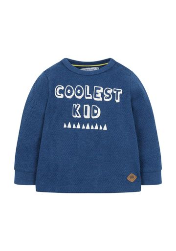Mothercare   Boys Full Sleeves Sweatshirt Text Print - Navy