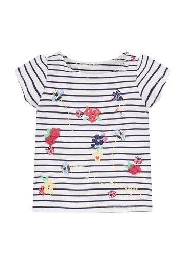 Mothercare | Striped Flower T-Shirt