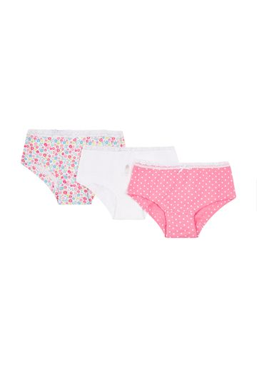 Mothercare | Girls Briefs Floral Print - Pack Of 3 - Pink