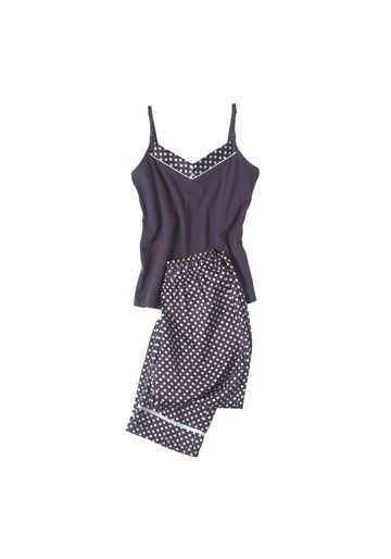 Mothercare | Women Maternity Sleeveless Pyjama Set Polka Dot Print - Navy