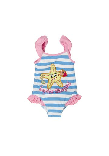 Mothercare | Girls Sleeveless Swimsuit Star Fish Print - Blue