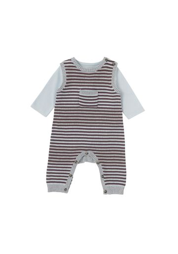 Mothercare | Boys Full Sleeves Dungaree Set Striped - Blue