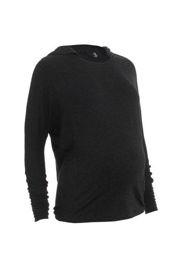 Mothercare   Women Full Sleeves Maternity Sweatshirt With Hood - Grey