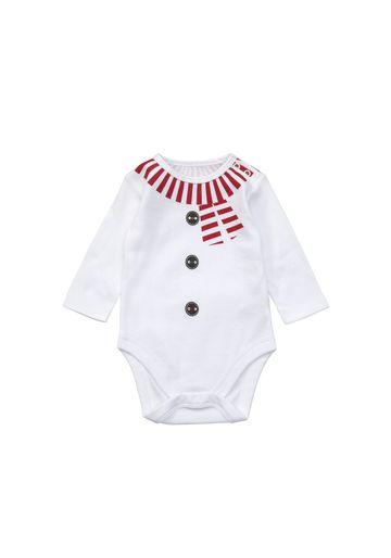 Mothercare | Unisex  Snowman Hanging Bodysuit - White