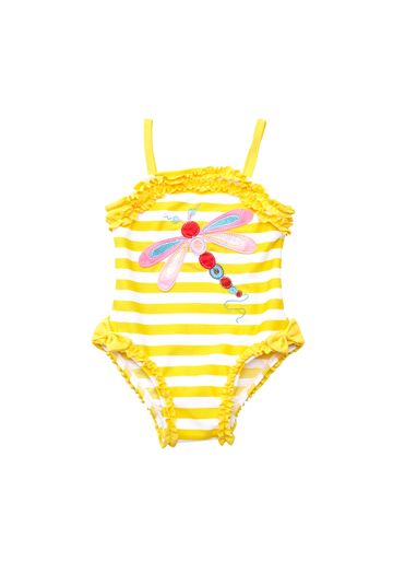 Mothercare | Girls Sleeveless Swimsuit Dragonfly Patchwork - Yellow