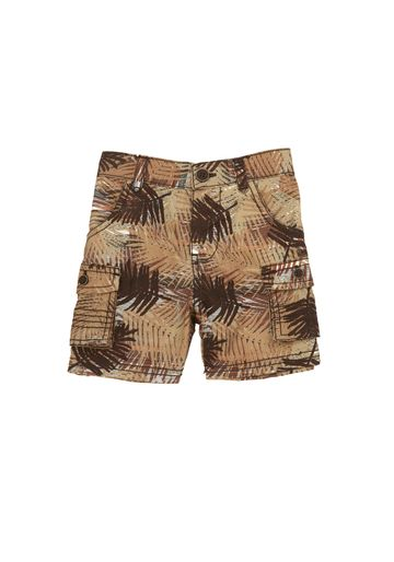 Mothercare | Boys Leaf Print Shorts - Khaki