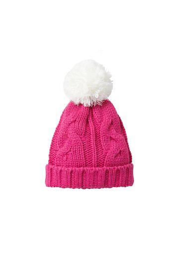 Mothercare | Girls Hat Pom Pom Detail - Pink