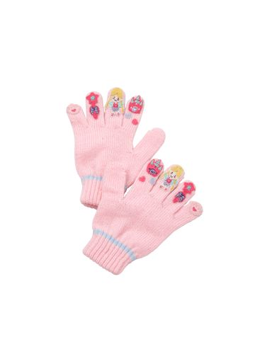 Mothercare | Girls Gloves Princess Embroidery - Pink