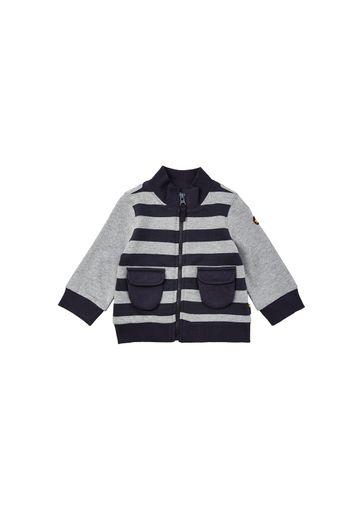 Mothercare | Boys Full Sleeves Striped Sweatshirt Zip Opening - Grey