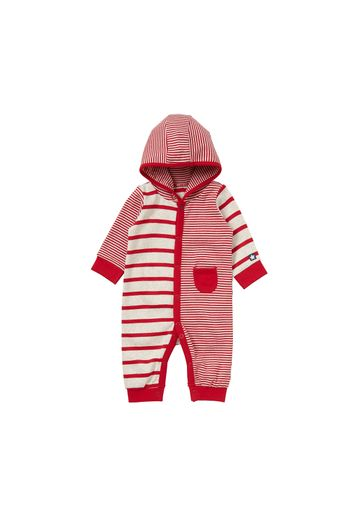 Mothercare | Boys Full Sleeves Hooded Romper Striped - Red