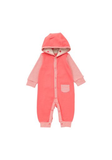 Mothercare   Girls Full Sleeves Hooded Romper Striped - Pink