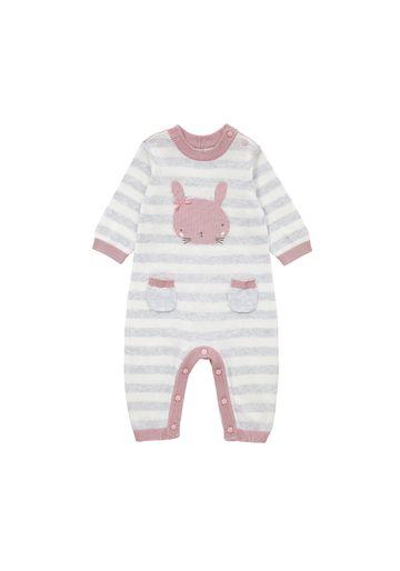 Mothercare | Girls Full Sleeves Romper Bunny Design - Grey