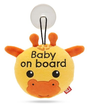 Mothercare | Mothercare Giraffe Baby On Board Sign Yellow