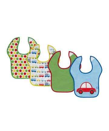 Mothercare | Mothercare Car Toddler Bibs Pack of 4 Multi