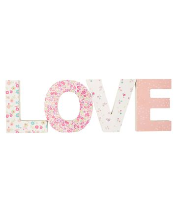 Mothercare   Mothercare My Little Garden Love Letters Pink