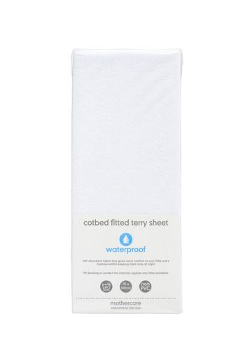 Mothercare | Mothercare Fitted Terry Cot Bed Sheet White
