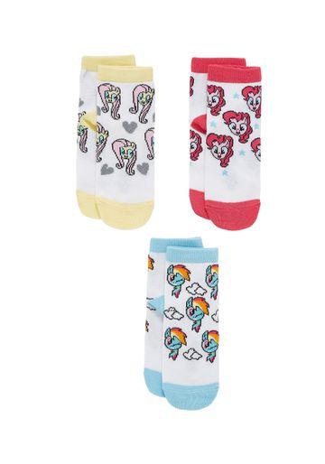 Mothercare | Girls Socks Pony Design - Pack Of 3 - White