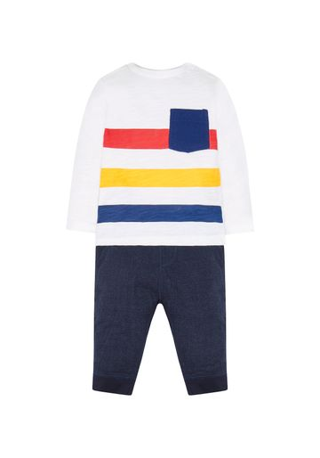 Mothercare | Boys Stripe T-Shirt And Joggers Set - Multicolor