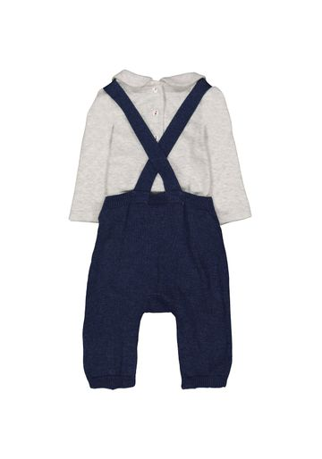 Mothercare | Boys Knitted Dungarees And Bodysuit Set - Navy