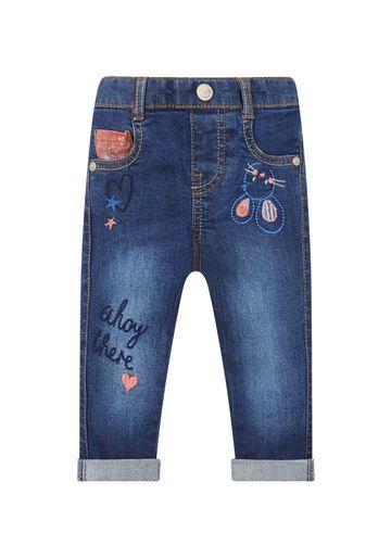 Mothercare | Girls Embroidered Denim Jeans - Denim